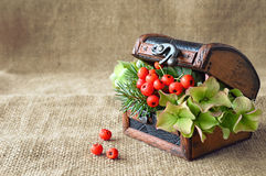 Autumn flower arrangement Stock Photo