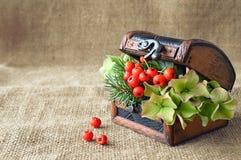 Autumn flower arrangement Stock Photo