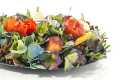 Autumn flower arrangement garland Stock Images