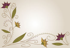 Autumn Flower background. Pretty background featuring flowers in purple and fall colors vector illustration