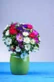Autumn flower bouquet in vase Stock Image