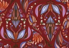 Autumn Flower Pattern senza cuciture Immagini Stock Libere da Diritti