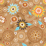 Autumn Flower seamless pattern Royalty Free Stock Photo