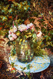 Autumn flowers arrangement Royalty Free Stock Photography