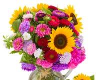 Autumn flowers  bouquet Stock Images