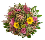 Autumn flowers bouquet. floral arrangement with sunflowers Royalty Free Stock Images