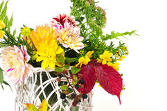 Autumn flowers  bouquets Royalty Free Stock Photo