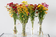 Autumn flowers bouquets Royalty Free Stock Photography