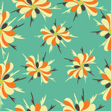 Autumn flowers pattern colorful abstract background Stock Photos