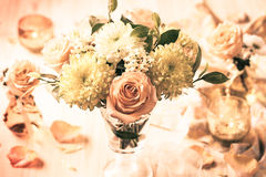 Autumn flowers and roses Royalty Free Stock Photo
