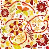 Autumn flowers (seamless) Stock Photos
