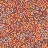 Autumn flowers. Seamless decorative pattern. Stock Image