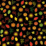 Autumn flowers  seamless pattern Stock Image