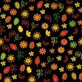 Autumn flowers  seamless pattern Stock Image