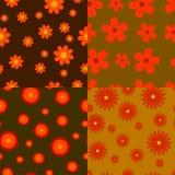 Autumn flowers seamless textures Stock Photo