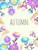 Autumn flowers.  Vector floral background Royalty Free Stock Photography