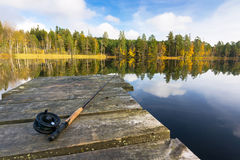 Autumn fly fishing Stock Photos