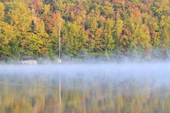 Autumn Fog on Adirondacks Lake Stock Images
