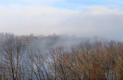 Autumn fog on the river Stock Photography
