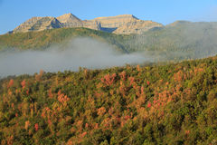 Autumn fog in the Wasatch Mountains. Royalty Free Stock Photos