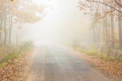 Autumn foggy day - Poland. Stock Photo