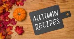 Autumn Recipes Stock Photography