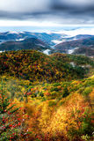 Autumn foliage on blue ridge parkway near maggie valley north ca Royalty Free Stock Images