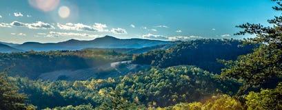 Autumn foliage on blue ridge parkway near stone mountain  north Royalty Free Stock Photos