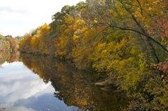 Autumn Foliage durch den Fluss Lizenzfreies Stockbild
