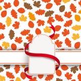 Autumn Foliage Etikette Banner Stock Photo