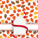 Autumn Foliage Etikette Banner Royalty Free Stock Photography