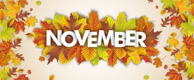 Autumn Foliage Fall Header November Immagini Stock