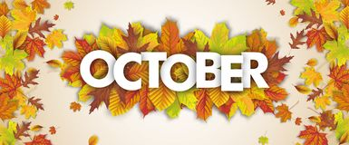 Autumn Foliage Fall Header October illustrazione di stock