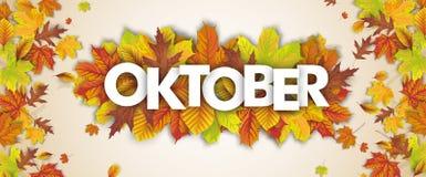 Autumn Foliage Fall Header Oktober Images libres de droits