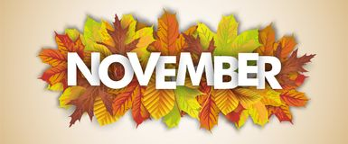 Autumn Foliage November Header Royalty Illustrazione gratis