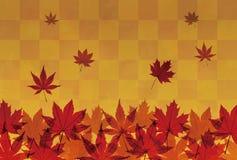Autumn foliage in orange brown background Stock Photography
