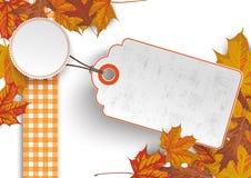 Autumn Foliage Price Sticker Royalty Free Stock Images