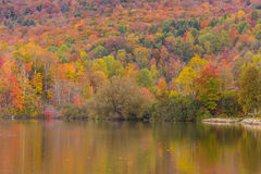 Autumn foliage and reflection in Vermont, Elmore state park Royalty Free Stock Photography