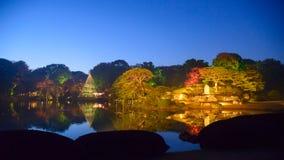 Autumn foliage in Rikugien Garden, Komagome, Tokyo. Rikugien is often considered Tokyo's most beautiful Japanese landscape garden. Built around 1700 for the 5th Stock Photo