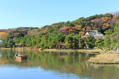 Autumn foliage in the Sankeien Garden, Yokohama, Kanagawa, Japan Royalty Free Stock Photography