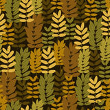 Autumn foliage seamless pattern Royalty Free Stock Photos