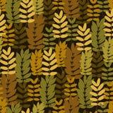 Autumn foliage seamless pattern Royalty Free Stock Photos