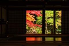 Autumn foliage surround Nanzen-ji building, Kyoto. Temple interior surround by autumn maple foliage in Nanzen-ji, Kyoto, Japan Royalty Free Stock Photo
