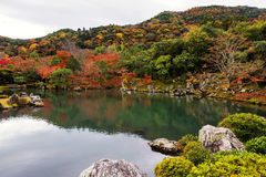 Autumn foliage in tenryu-ji, Arashiyama Stock Photography