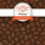 Autumn Foliage Thanksgiving Emblem Banner Photographie stock libre de droits