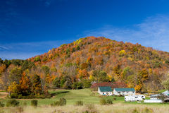 Autumn foliage in Vermont countryside Royalty Free Stock Images