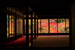 Autumn foliages view from Tenju-an, Kyoto Royalty Free Stock Photography