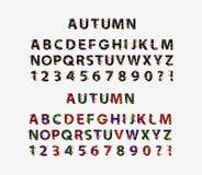 Autumn Font, vectorillustratie stock illustratie