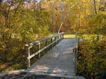 Autumn Footbridge Royalty Free Stock Images