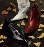 Autumn footwear Royalty Free Stock Images